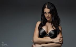 girl, model, Alla Berger, bra, boobs