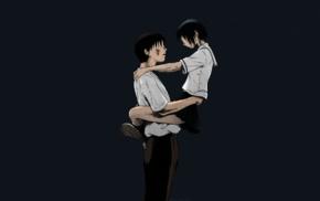 short hair, anime girls, couple, short skirt, schoolgirls, romance
