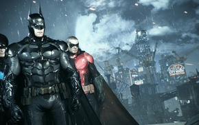 Batman, Gotham City, video games, Robin character, Batman Arkham Knight, Nightwing
