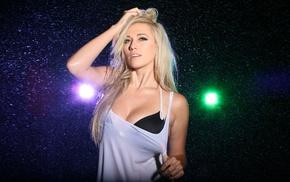 Lindsay Elyse, blonde, lights, model, boobs