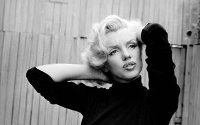 girl, monochrome, Marilyn Monroe