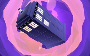 Doctor Who, digital art, artwork, TARDIS