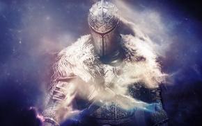 Dark Souls II, smoke, knight, space