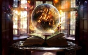 books, fantasy art, magic