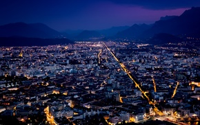 night, lights, cityscape