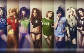 Green Lantern, Spider, Man, The Flash, Marvel vs DC Comic, girl