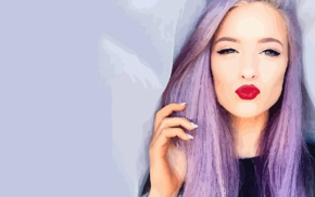 vectors, vector art, lips, kissing, purple hair
