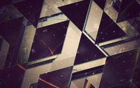 artwork, abstract, triangle, fantasy art, digital art