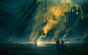astronaut, science fiction, mining