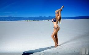 girl with glasses, girl, sand, model, blonde, Jordan Carver
