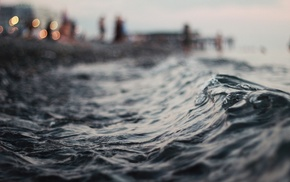 waves, photography, depth of field, water, blurred, nature