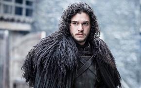 actor, Jon Snow, curly hair, Game of Thrones, men, Kit Harington