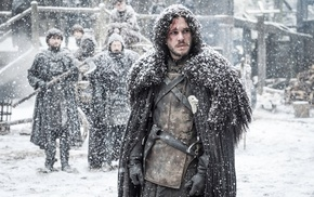 men, Game of Thrones, snow, Jon Snow, Kit Harington, actor