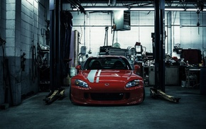 red cars, car, Honda, s2000