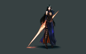 video game girls, Castlevania Order Of Ecclesia, Castlevania, video games, Shanoa Castlevania, simple background