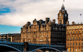 building, cityscape, bridge, architecture, Scotland, city