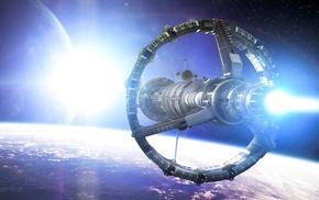 fantasy art, digital art, stars, artwork, spaceship, space