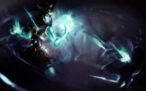 ghost, Kalista, video game girls, League of Legends, undead, video games