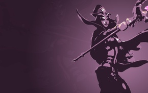 League of Legends, LeBlanc League of Legends, video game girls, magician, staff, minimalism