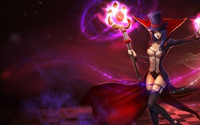 staff, video games, simple background, LeBlanc League of Legends, League of Legends, video game girls