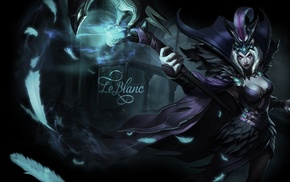 video game girls, cleavage, League of Legends, LeBlanc League of Legends, video games, magician