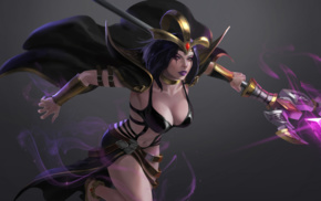 League of Legends, LeBlanc League of Legends, magician, cleavage, video games, video game girls