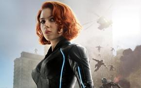 girl, redhead, The Avengers, Avengers Age of Ultron, Black Widow, Scarlett Johansson