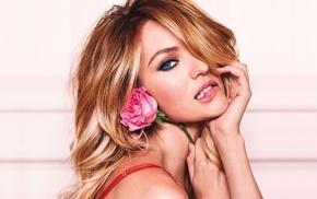 face, girl, model, sensual gaze, Candice Swanepoel