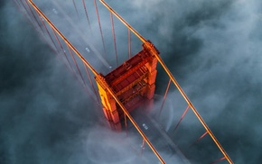 nature, bridge, morning, San Francisco, sunrise, landscape