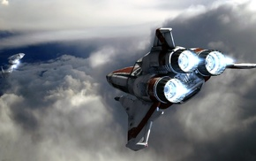 Cylons, futuristic, spaceship, Battlestar Galactica, sky, science fiction