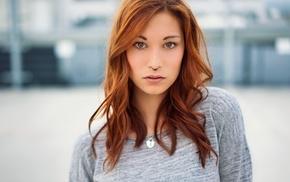 hazel eyes, redhead, face, Victoria Ryzhevolosaya, nose rings, girl