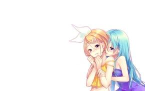yuri, Kagamine Rin, anime girls, loli, Hatsune Miku, Vocaloid