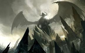 Guild Wars, concept art, video games, Guild Wars 2, dragon, fantasy art