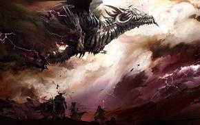 video games, dragon, concept art, Guild Wars, fantasy art, Guild Wars 2
