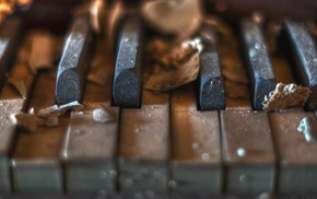 piano, music, macro, old