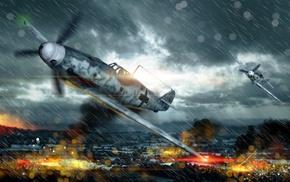 airplane, World War II, War Thunder, Messerschmitt Bf 109