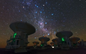 Chile, universe, galaxy, starry night, Atacama Desert, space
