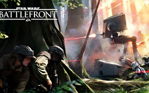 Star Wars Battlefront, Rebel Alliance, Endor, stormtrooper, Star Wars, AT