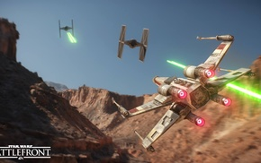 dogfights, Tatooine, X, wing, Star Wars Battlefront, dogfight