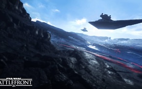 Sullust, Star Destroyer, Galactic Empire, spaceship, Star Wars Battlefront, video games
