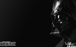 Darth Vader, simple background, black, Star Wars Battlefront, Star Wars, Sith