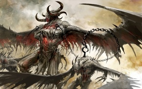 Guild Wars 2, fantasy art, concept art, video games, demon, Guild Wars
