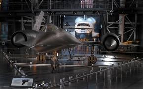 aircraft, museum, Lockheed SR, 71 Blackbird, space shuttle, military aircraft