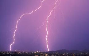 nature, lightning, storm