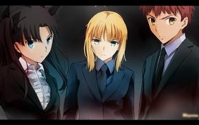 Shirou Emiya, Fate Series, anime, Tohsaka Rin, Saber