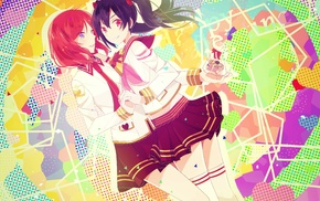 Love Live, Yazawa Nico, colorful, anime, Nishikino Maki