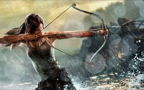 Rise of the Tomb Raider, Tomb Raider, video games, archers, bows, Lara Croft