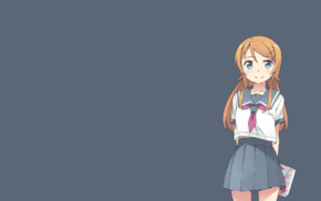 simple background, Kousaka Kirino, anime girls, Ore no Imouto ga Konnani Kawaii Wake ga Nai