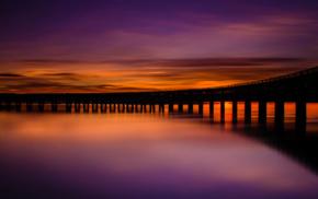 Scotland, long exposure, landscape, silhouette, nature, clouds
