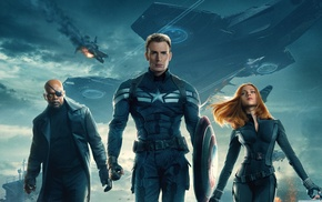 Samuel L. Jackson, Black Widow, Captain America, Scarlett Johansson, Captain America The Winter Soldier, Nick Fury